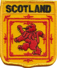 Scotland Lion Rampant Shield Embroidered Badge (a086)